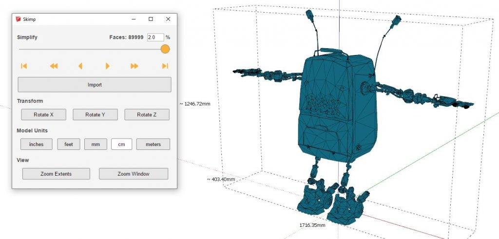 SketchUp fast import example image