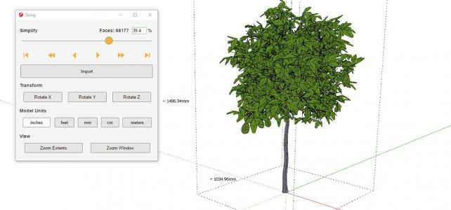 Skimp | Simplify your Sketchup model | Import FBX, OBJ and more